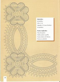Labores de Bolillos 01 Bobbin Lace Patterns, Embroidery Patterns, Jane Lewis, Bobbin Lacemaking, Lace Making, Lace Flowers, String Art, Hobbies And Crafts, Yarn Crafts