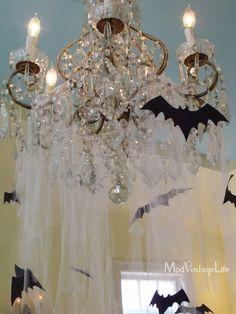 Mod Vintage Life: My Halloween Mantel 2012