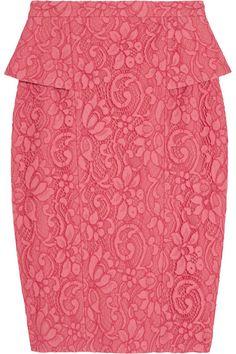 Jason Wu lace peplum skirt #DesignerSpotlight #JasonWu