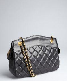 38e72d81e80d Chanel   black vintage quilted leather shoulder bag