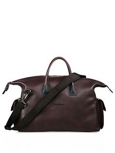Salvatore Ferragamo - Icaro Leather Weekender