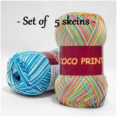 Items similar to Mercerized print cotton yarn COCO PRINT by Vita Cotton Yarn knitting crochet Multicolor summer print yarn on Etsy Mercerized Cotton Yarn, Summer Prints, Yarn Shop, Knitting Yarn, Printed Cotton, Etsy Store, Knit Crochet, Craft Supplies, Crafts