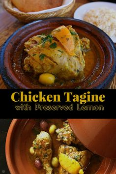 Chicken Tagine with Preserved Lemon and Olives. A recipe capturing the exotic flavors of Morocco