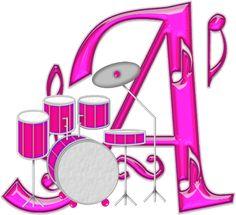 Alfabeto Decorativo: Alfabeto - Instrumento Musical 1 - PNG - Completo ...