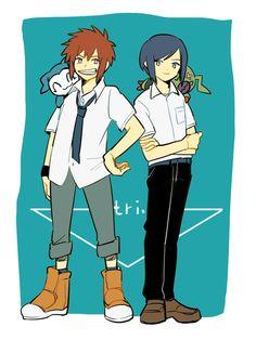 Fanart de Davis y Ken para Digimon Adventure TRI.