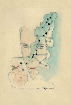 Drawing by Toyen (Marie Čermínová), ink and watercolor. Czech painter, draftsperson and illustrator and a member of the surrealist movement. Surreal Artwork, Max Ernst, Art Academy, Magritte, Joan Miro, Collage Art, Collages, New Artists, Caricature