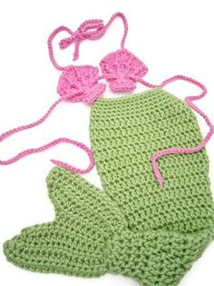 Mermaid Costume Free Crochet Pattern | Crochet Mermaid Tail Newborn Baby Photo Prop or Costume | Casual ...