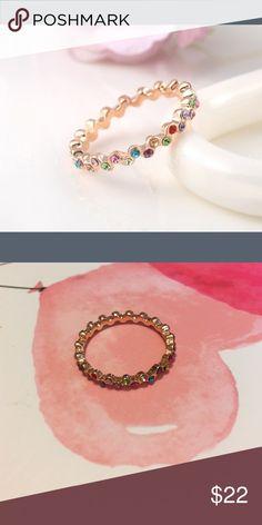 Beautiful Petite Gold plated Eternity Fashion Ring Fashion, Gold plated Eternity Fashion Ring, Nickle Free Jewelry Rings