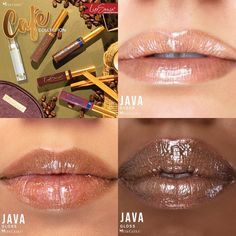 Limited Edition Java Gloss by SeneGence is a tinted Cocoa shade with pink and gold glitter.  Click to purchase yours.  Wear alone or on top of any LipSense LipColor.  #senegence #lipsense #javagloss #cafelipscollection