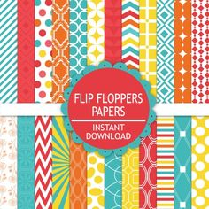 Flip Floppers #Digital #Paperpack by @prettdesigns | Download here http://www.luvly.co/users/PrettifulDesigns