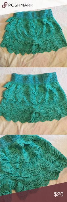 Iace shorts! Lace shorts! Stretchy waist, very cute on! Make me an offer! Love Culture Shorts