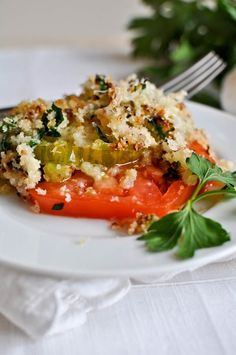 A delicious way to eat your heirlooms.  Broiled asiago heirloom tomatoes.