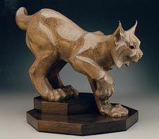 Lynx: Wildlife art bronze sculpture by artist and sculptor Jan Rosetta