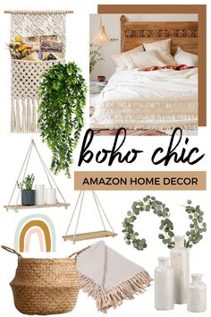 With all this time at home, I've been sprucing up some areas around my apartment to make them a little more cozy. I ordered a few sma. Boho Chic Bedroom, Boho Room, Boho Living Room, Diy Bedroom Decor, Boho Chic Bedding, Boho Chic Interior, Bedroom Ideas, Amazon Home Decor, Apartment Chic