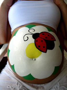 Pregnant Belly Paintings, for our photo shoot this week :D
