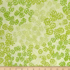 """Kaufman Blueprint Basics  108"""" Wide Spray Leaf from @fabricdotcom  Designed by Valori Wells for Robert Kaufman, this 108"""" wide cotton print collection is perfect for backing quilts, light curtains, and even dust ruffles. Colors include shades of green."""