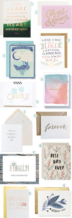 #Wedding congratulations cards round-up: http://ohsobeautifulpaper.com/2015/03/stationery-a-z-wedding-congratulations-cards/ | 1. Sycamore Street Press; 2. Rifle Paper Co.; 3. Hello!Lucky; 4. Emily McDowell; 5. The Paper Cub; 6. E.Frances Paper; 7. Vellum & Vogue; 8. Ink Meets Paper; 9. Near Modern Disaster; 10. Sycamore Street Press; 11. Iron Curtain Press; 12. Moglea | Click through for full links + resources!