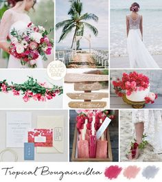 Tropical Bougainvillea Wedding Inspiration Board   SouthBound Bride   Full credits & links: http://www.southboundbride.com/inspiration-board-tropical-bougainvillea