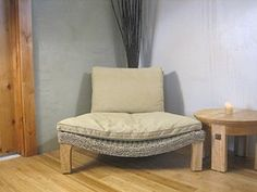 Seagrass Harmony Meditation Chair - Natural with Flax Cushion (Xoticbrands)