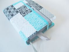 Ready Made Bible Cover in Blue and Gray Patterned by keepeweclean, $14.00