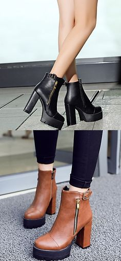 32.99  Women s Shoes Boots Spring Fall Winter Heels Platform Fashion  Boots Bootie Round Toe Office Career Dress Casual a6ad08ddf08