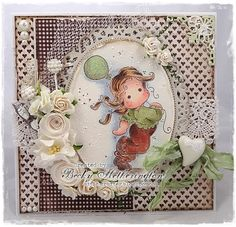 Card created by LLC DT Member Becky Hetherington, using papers from Maja Design's Fika (Shall we have Coffee) collection and a Magnolia image.