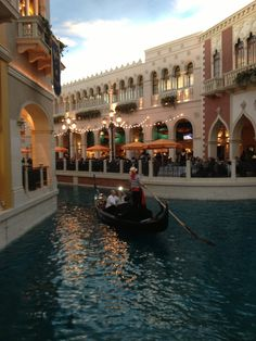 Venetian Hotel, Las Vegas - the canals of Venice are recreated, serenading gondoliers and all.