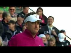 Poulter pumps up the crowd---Ian Poulter and Bubba Watson teeing off at Ryder Cup 2012 - YouTube