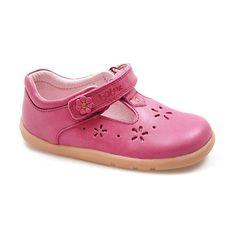 Girls Shoes : Bobux i-Walk Dandelion T-bar Pink