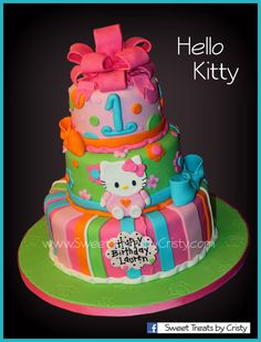 Hello Kitty Cake by SweetTreatsbyCristy