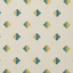 Pizarro fabric in Aqua