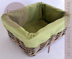 keywoman sews: Basket Liner