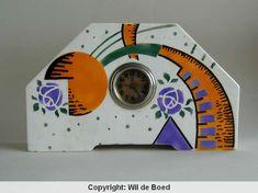 Spritzdekor clock