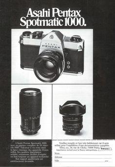 """""""Asashi Pentax Spotmatic 1000"""" publié dans : Photo, n°103, Avril 1976."""