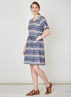 Abigail Stripe Hemp Dress