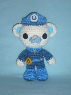 Octonauts Captain Barnacles toy bear crochet by MarinaMandarina, £4.00