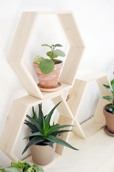 HEX XL - honeycomb hexagon wooden shelf from AnyTHING Manufacture of Wood by DaWanda.com