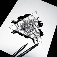 art, drawing, flowers, hipster, sketch, triangle                                                                                                                                                                                 More