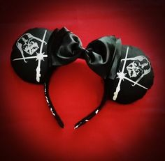 Darth Vader Glow In The Dark Minnie Mouse Ears Headband By Le Petite Zombie