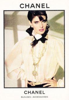 Chanel Blouse 1982 - Joan Severance Model. #chanel