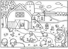 Count the Lambs Puzzle and Colouring Page - really awesome coloring pages!