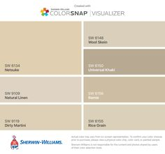I found these colors with ColorSnap® Visualizer for iPhone by Sherwin-Williams: Anew Gray (SW Incredible White (SW Loggia (SW Aesthetic White (SW Agreeable Gray (SW Colonnade Gray (SW Origami White (SW