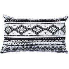 Si. Som. Dos Folk Cushion ($48) ❤ liked on Polyvore featuring home, home decor, throw pillows, black and white striped throw pillow, striped throw pillows, stripe throw pillows, patterned throw pillows и black and white accent pillows