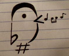 This is what I think I might get someday! See? It's a fermata, a flat, a sharp, a slur, and an accent!
