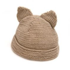 Cosy Natural Oatmeal Baby/Toddler Hat with Ears