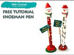 PolyPediaOnlineTV - How to Snowman Polymer Clay Christmas Pen Tutorial by Iris Mishly