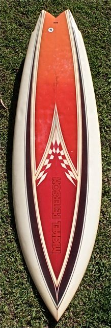 Michael Peterson shaped early 80's single fly, swallow tail, single fin that's in remarkable original condition
