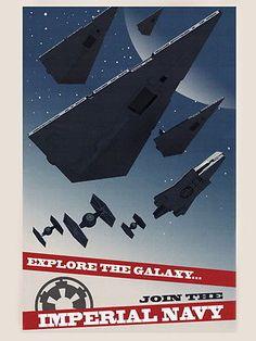Imperial Navy Starfleet Propaganda Star Wars Movie Art HUGE GIANT PRINT POSTER