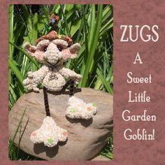 Gnome Goblin Elf Troll Crochet Pattern Digital PDF by Peggytoes, $4.25