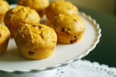 Four ingredient Cranberry Pumpkin muffins.........very good!
